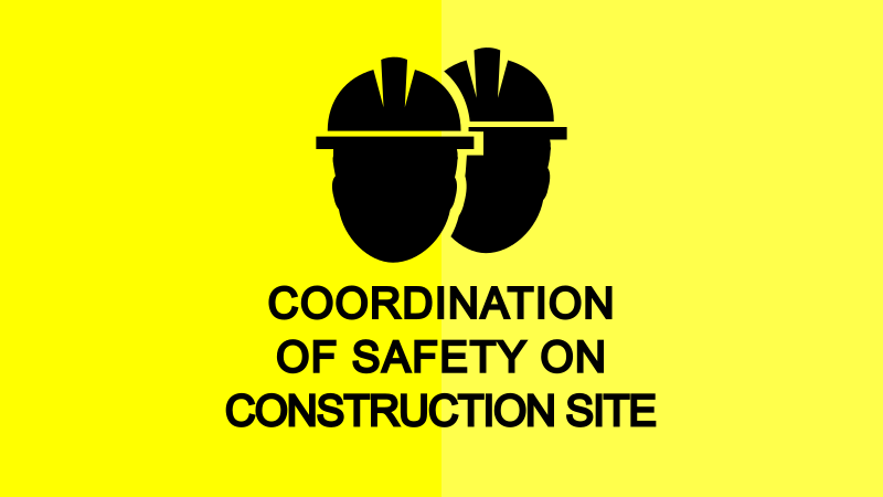 Safety coordination on construction site - OSH, OMS, FP, PPE
